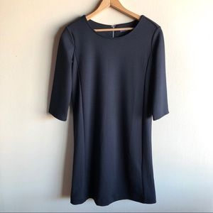 GAP black shift dress with three quarter sleeves